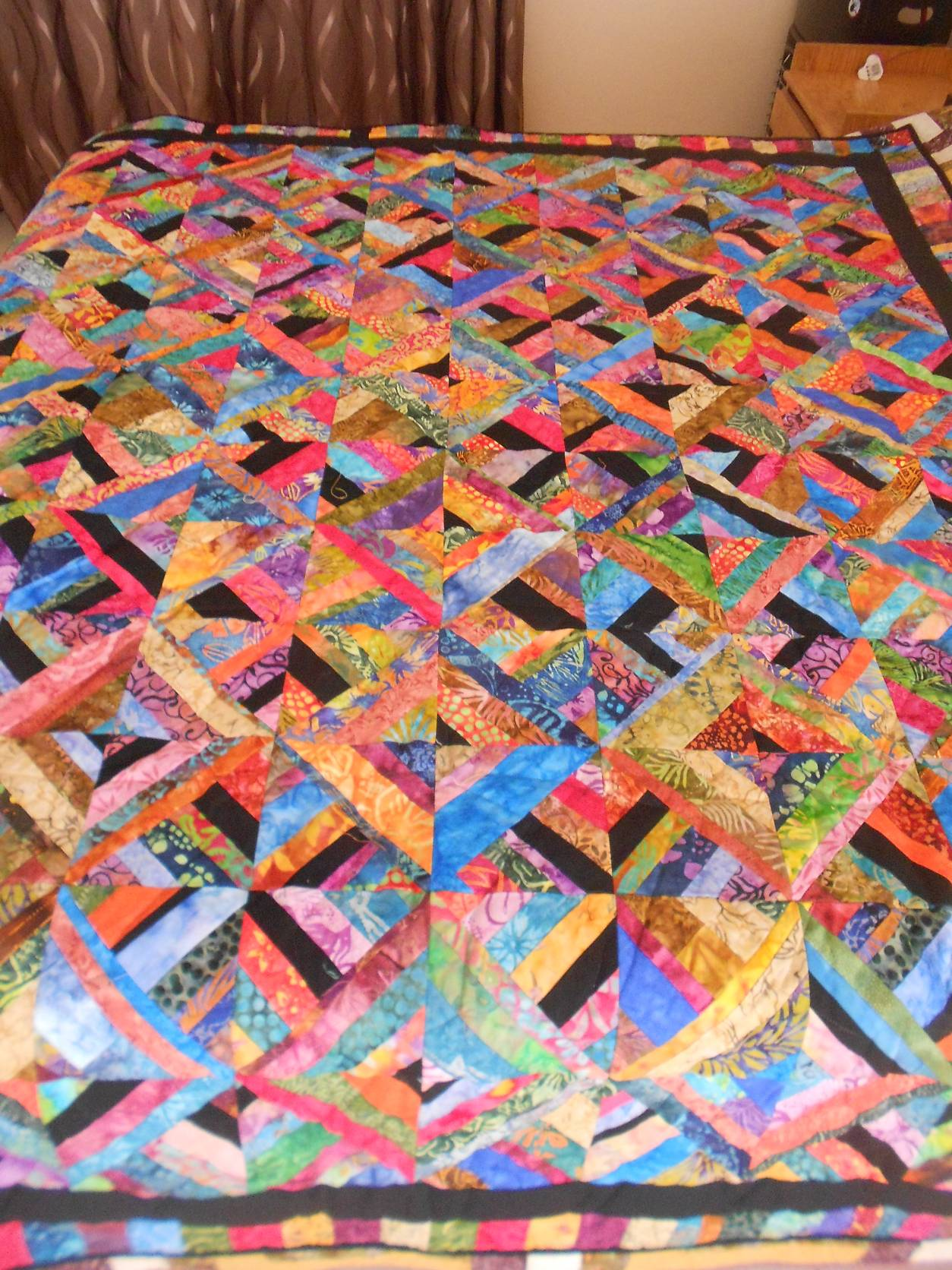 All Scraps and Strip sizes Quilt given to Lucille