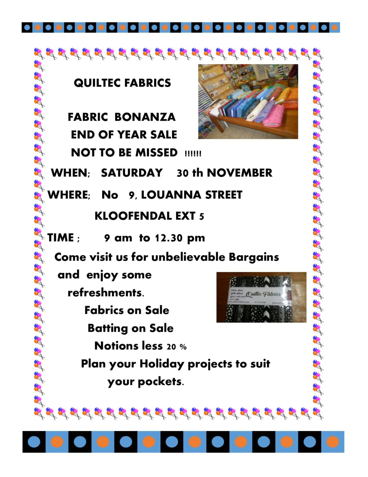 Publication1.pub advert fabric bonanza Nov 30th 2019